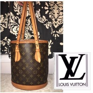 Louis Vuitton Bucket Bag Petit Monogram Authentic